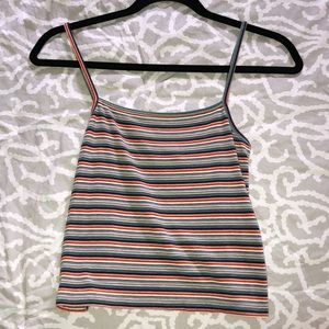 brandy stripped tank top